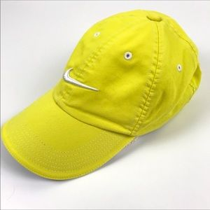 Nike Golf Hat Baseball Cap Adjustable Yellow OS